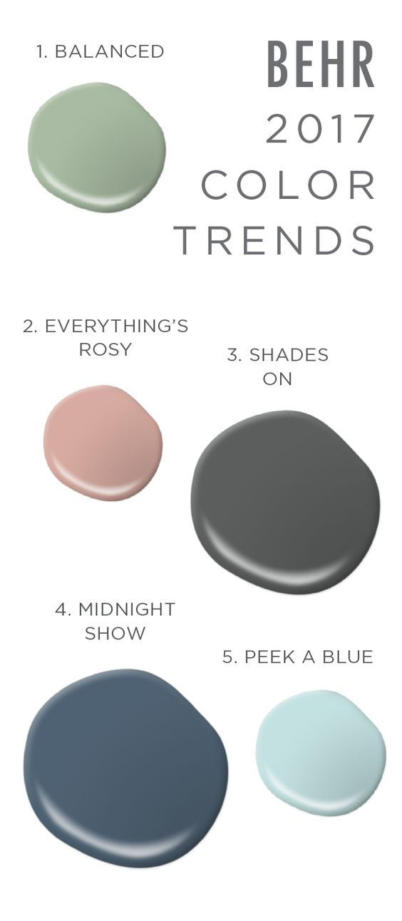 ... In Paint Color This Year Is Neutrals And Earth Tones With Pops Of  Blues, Greens, And Reds. Below Are The Trending Paint Colors For 2017 From  Some Of The ...