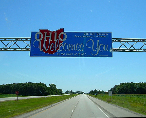 Diyanni Homes Ohio welcome sign over interstate